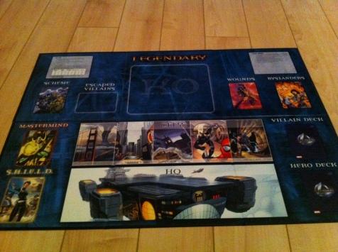 Legendary: A Marvel Deck-Building Game Board