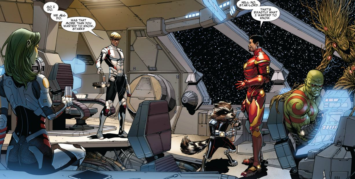 Guardians Of The Galaxy Iron Man series was Iron Man from