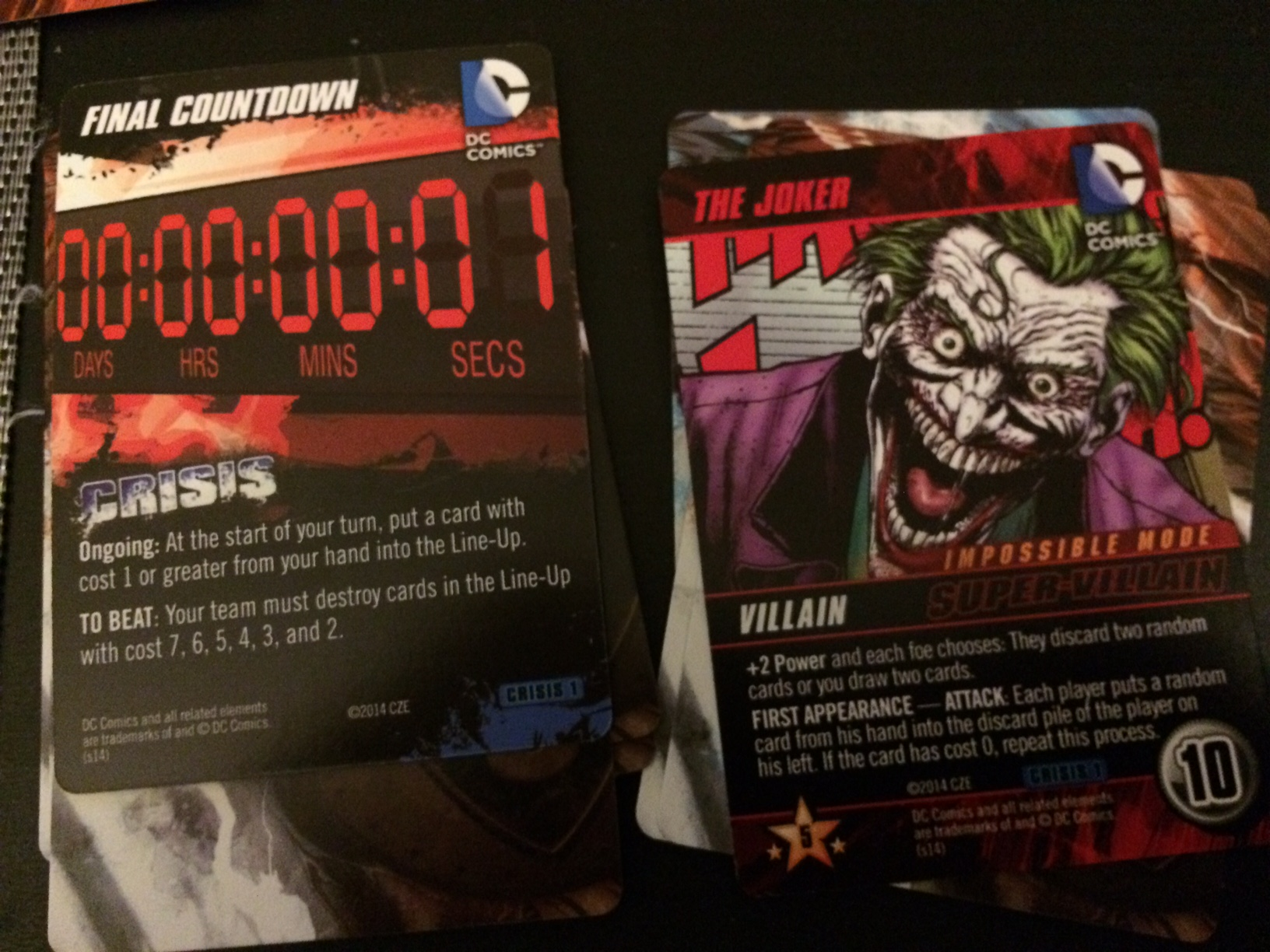 Dc Comics Deck Building Game Crisis Expansion Review In
