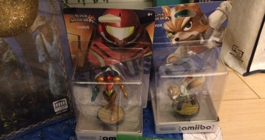 Samus and Fox Amiibos