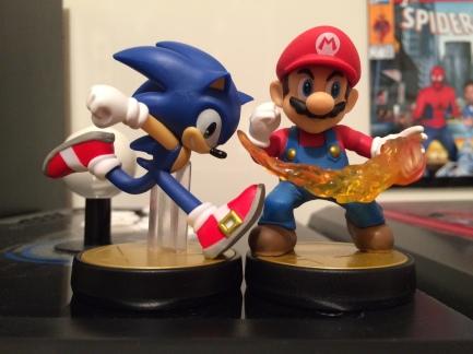 Sonic and Mario Amiibo