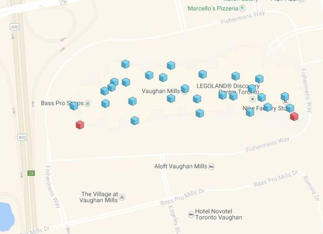 Vaughan Mills Mall PokeStops