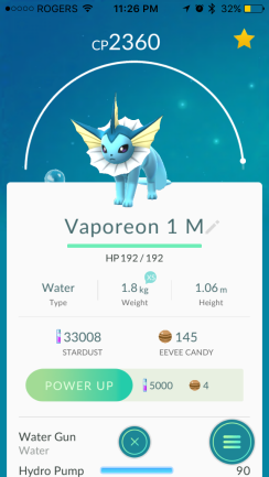 Pokemon Go Vaporeon