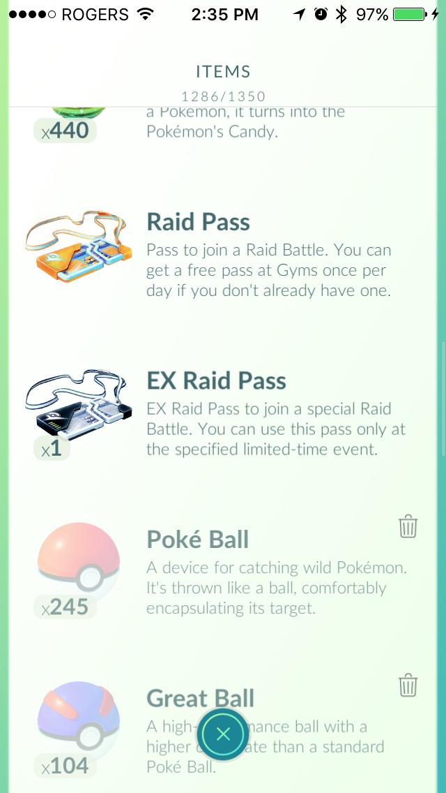 pokemon go how to get raid pass back